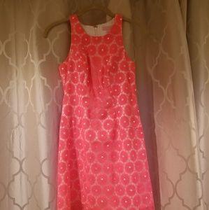 Lilly Pulitzer fiesta pink pearl shift dress